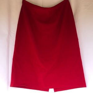 Calvin Klein Red Professional Pencil Skirt